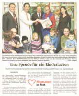 Spendenübergabe an die Kinderklinik